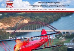 Austin Biplane Website Screenshot
